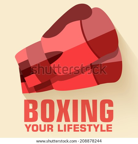Flat sport boxing background concept. Vector illustration Flat sport boxing bacground concept. Vector illustration design - stock vector