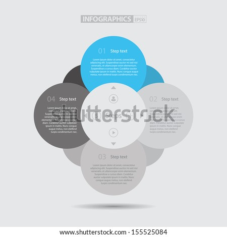 Flat Step by Step / EPS10 Vector Illustration / - stock vector