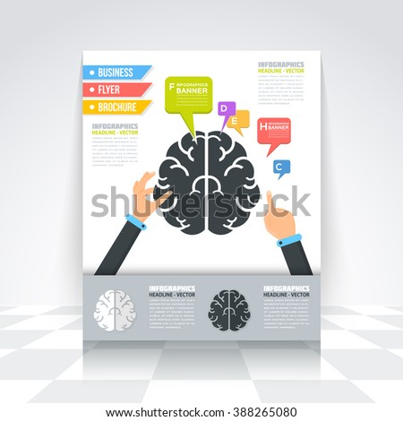 Two Piece Flat Round Puzzle Infographic Stock Vector