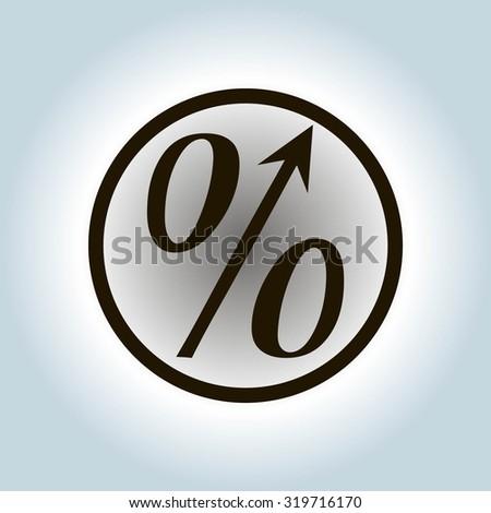 Flat Style Icon Percent Symbol Vector Stock Vector 319716170