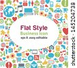 Flat style talk icon -- business concept - stock