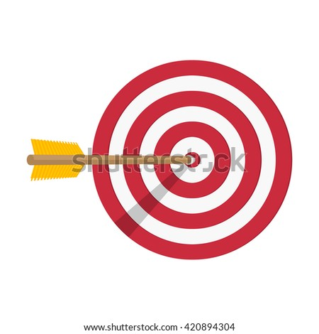 Flat target icon. - stock vector