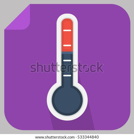 flat temperature icon of various square flat style icon vector