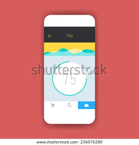 flat ui screen mobile app design stock vector 236076280