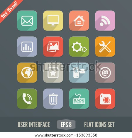 Flat User Interface Icons for Web and Mobile Applications