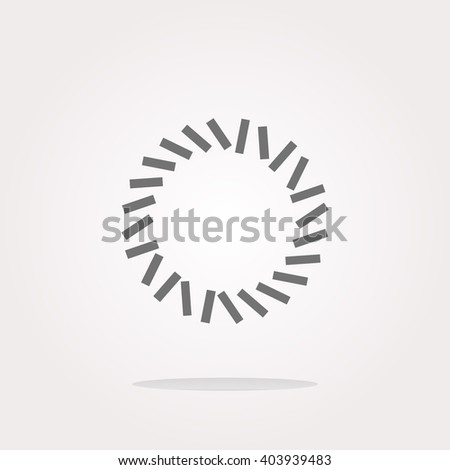 flat vector abstract symbol on web icon or button