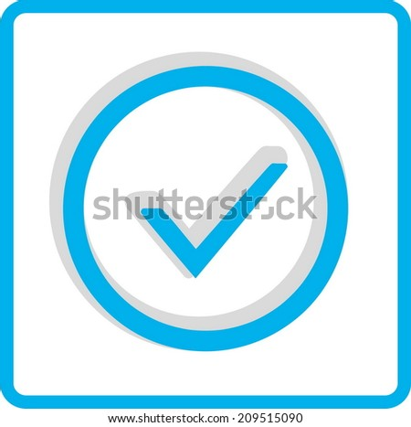 Flat Vector Accept Icon - stock vector