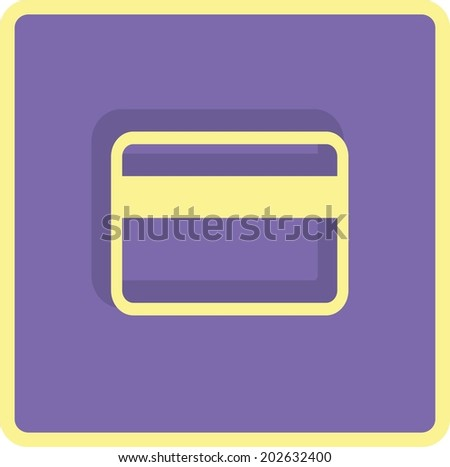 Flat Vector Bank credit card Icon