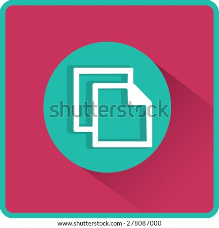 Flat Vector Copy Icon - stock vector