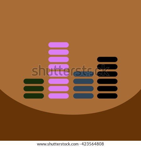 flat vector icon design collection sound and audio waves - stock vector