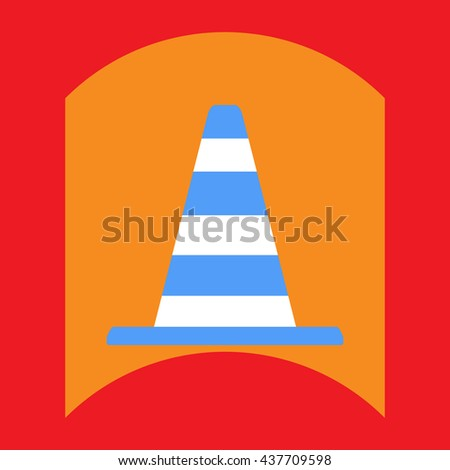 flat vector icon design collection traffic cone