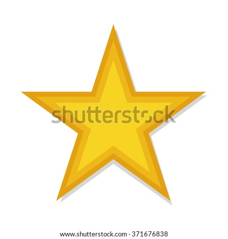 flat Vector icon - illustration of star icon isolated on white