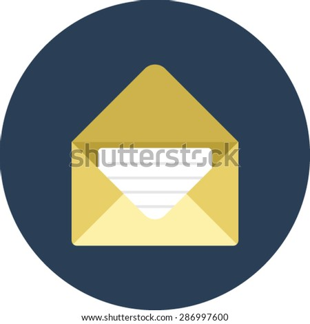 Flat vector icon of Mail for Mobile & Computer - stock vector