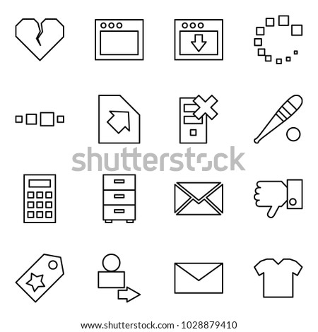 Flat Vector Icon Set Broken Heart Stock Vector Hd Royalty Free