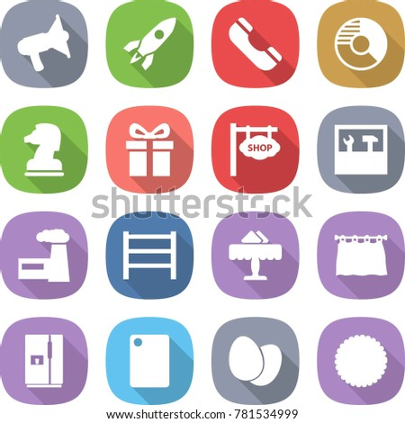 Flat vector icon set loudspeaker vector stock vector 781534999 flat vector icon set loudspeaker vector rocket phone circle diagram chess ccuart Image collections