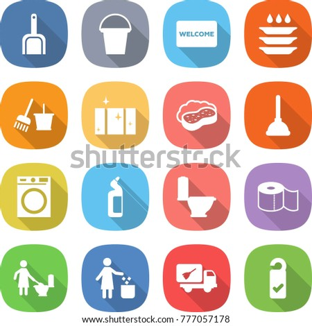 icons cleaning rooms personal hygiene thin stock vector 624019091 shutterstock. Black Bedroom Furniture Sets. Home Design Ideas
