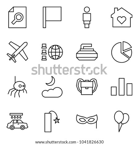 Flat vector icon set search document stock vector 1041826630 flat vector icon set search document vector flag woman family home ccuart Image collections