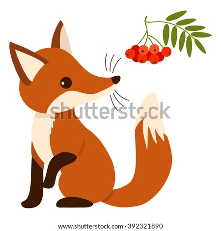 Sitting fox illustration - photo#3