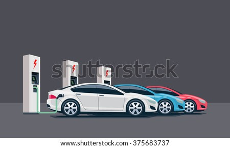 Electric Vehicle Charging Station Stock Images Royalty Free