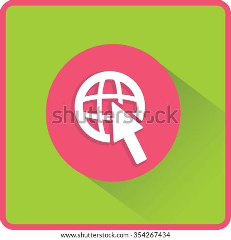 Flat Vector Internet Icon - stock vector