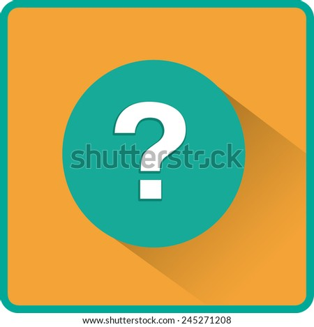 Flat Vector Question Icon - stock vector