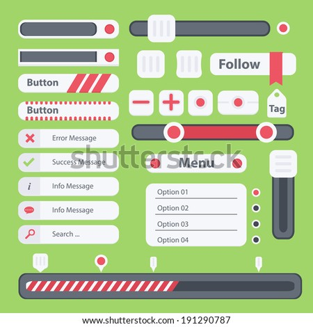 Flat web UI. Vector elements