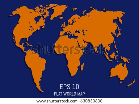 Flat world map template your design stock vector 630833630 flat world map template for your design works vector illustration gumiabroncs Images