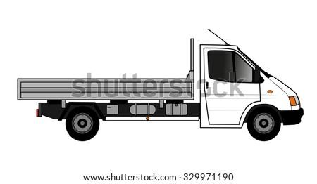 flatbed truck  - stock vector