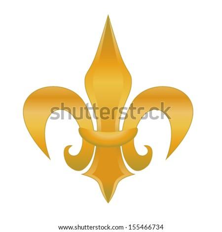 fleur de lis - stock vector