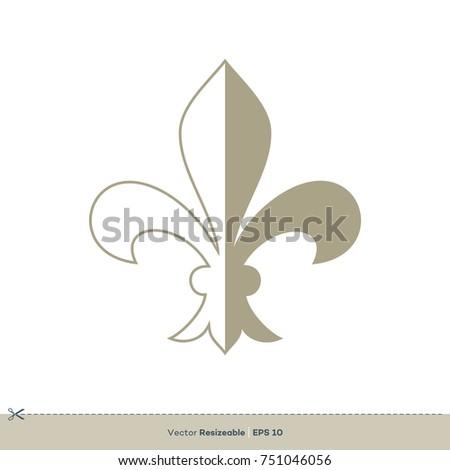 fleur de lis icon vector logo stock vector 751046056 shutterstock