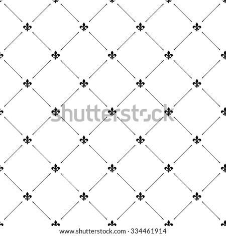 Fleur de lis luxury seamless pattern background - stock vector