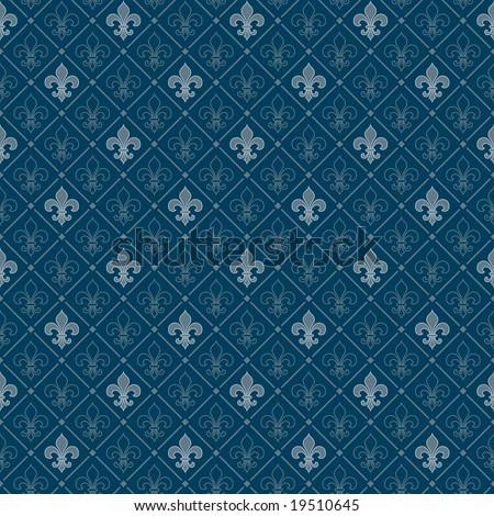 fleur-de-lis seamless pattern - stock vector