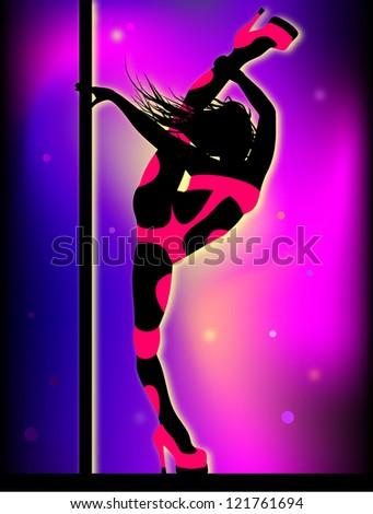 Flexible dancer - stock vector