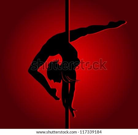 Flexible dancing girl - stock vector