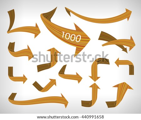 Flexible the direction arrows. The linear structure of the arrows. Vector illustration