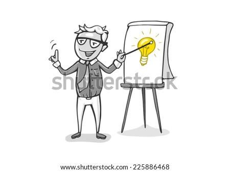 flip chart idea - stock vector