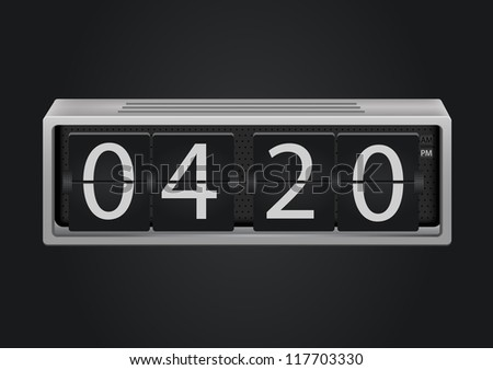 flip clock vector. The numbers are easy to replace with another numbers - stock vector