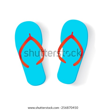 flip flops isolated - stock vector