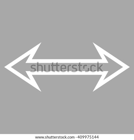 Flip Horizontal vector icon. Style is contour icon symbol, white color, silver background. - stock vector