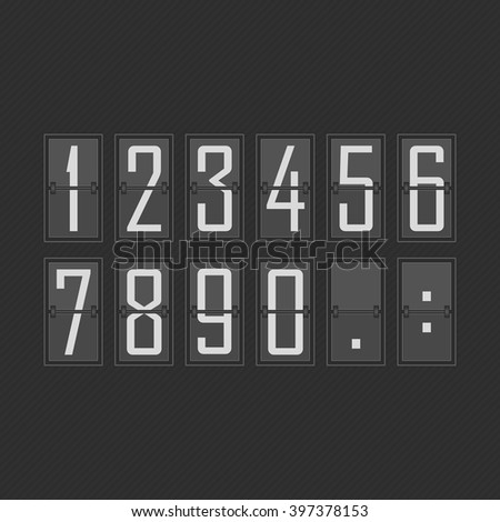 Flip Numbers Set - Vector flip numbers set. Numbers fit together perfectly.