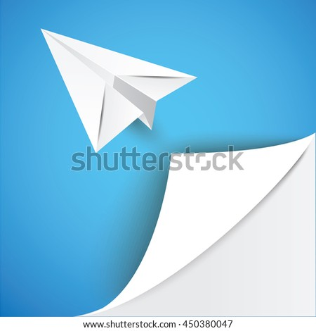 The gallery for --> Origami Plane Vector