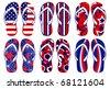 Flipflops - American Flag FlipFlops - stock vector