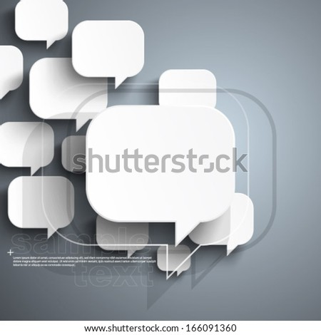 Floating Speech Bubble Background - stock vector