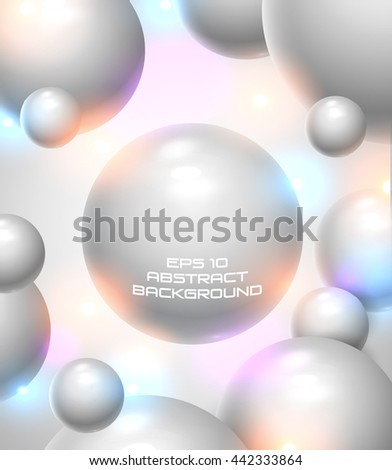 Floating Spheres illustration with space for your text - vector illustration