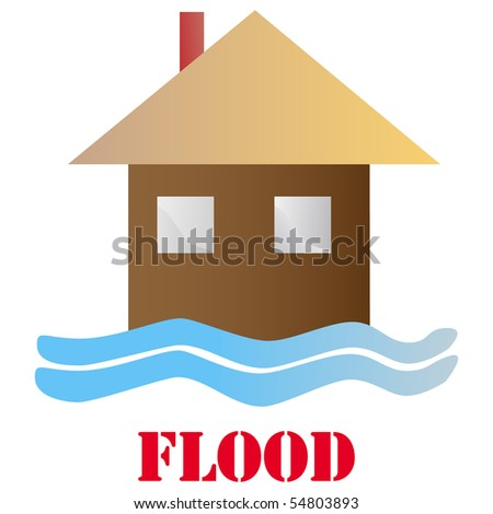 Flood icon isolated on white vector - stock vector