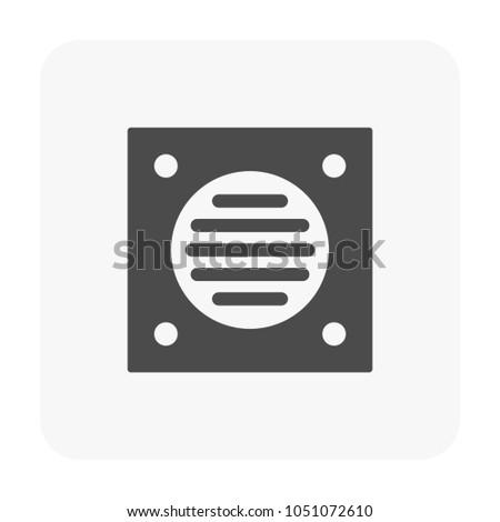 Floor Drain Icon On White Stock Vector 1051072610 Shutterstock