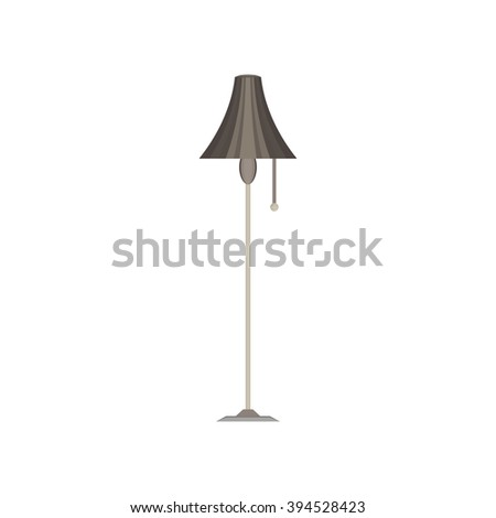 floor lamp monochrome flat icon in gray color theme illustration object