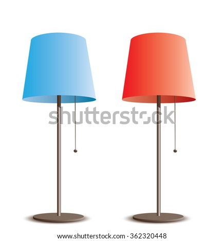 floor lamps - stock vector