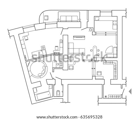 furniture floor plans. floor plan top view plans standard home furniture symbols set used in architecture
