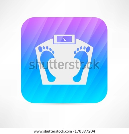 floor scales - stock vector